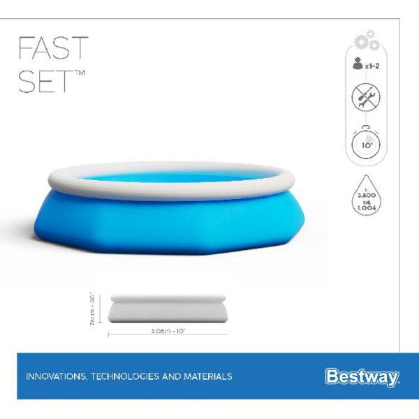 Bestway fast set rond 305x76