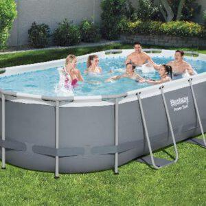 Ovalen Bestway zwembad met stalen frame 427x250x100 cm