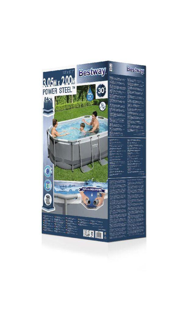 Ovalen Bestway zwembad met stalen frame 305x200x84 cm
